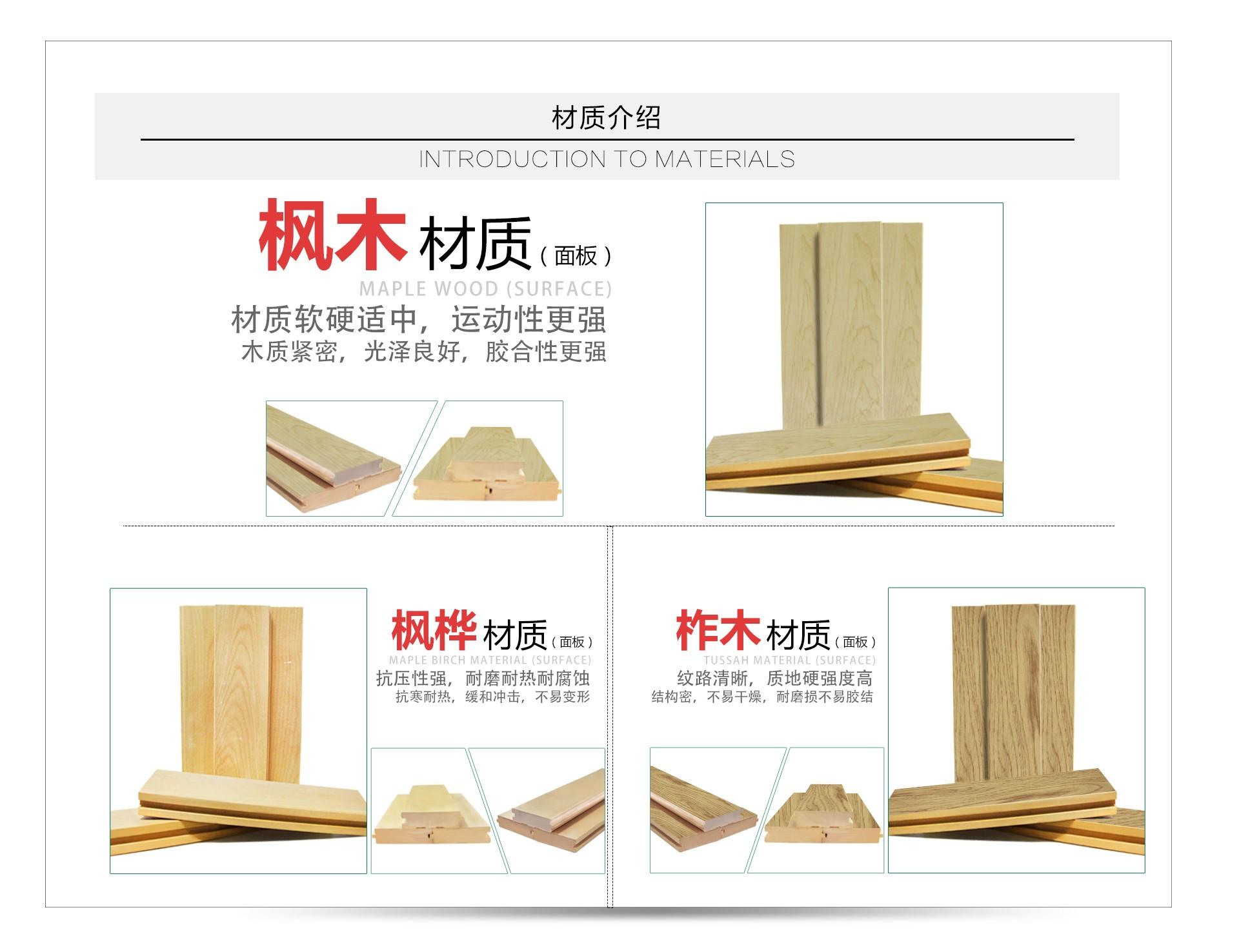 实木地板材质介绍