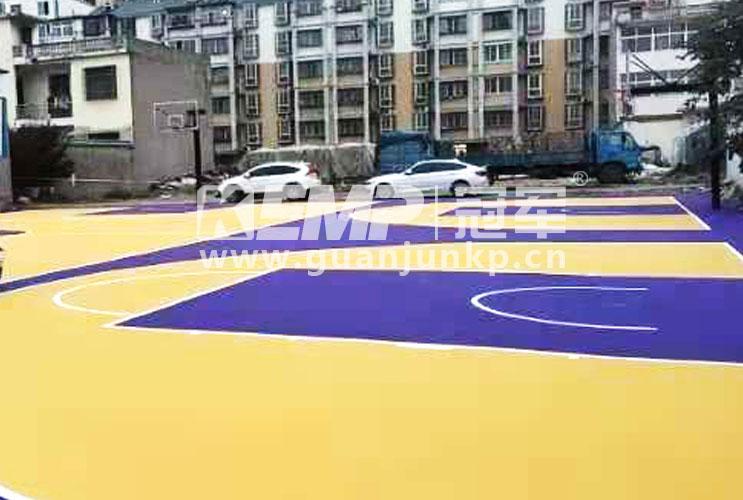 安徽省涡阳县零点体育室外篮球场
